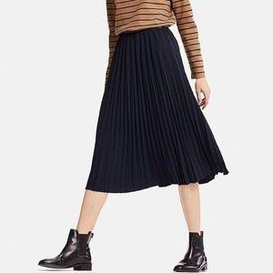 Uniqlo Pleated Chiffon Midi Skirt High Waist M